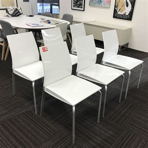 Oz Design Dining Chairs 1 Set Of 6 Glossy White Oltre Dining Chairs Beyond Furniture