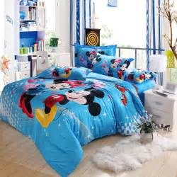 Mickey Mouse Bedroom Set Blue Mickey Mouse And Minnie Mouse Bedding Kids Bedding
