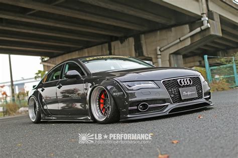 liberty walk audi a7 s7 get steroid shots from liberty walk
