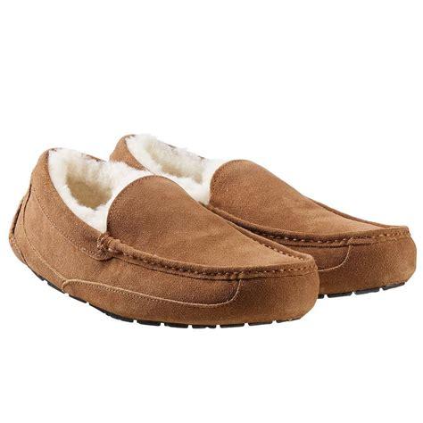 shearling lined slippers kirkland mens shearling lined slipper for 9 97 shipped