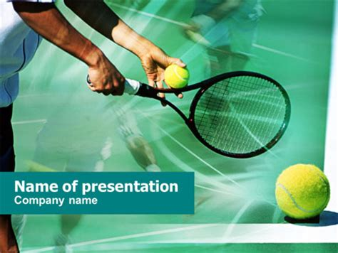 Tennis Court Presentation Template For Powerpoint And Keynote Ppt Star Tennis Powerpoint Template
