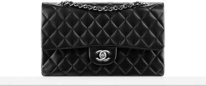 Tas Chanel Pouch 1161181 classic handbag lambskin black chanel