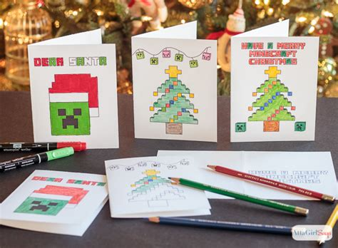 How To Make A Card Youtube - minecraft coloring pages christmas cards atta says