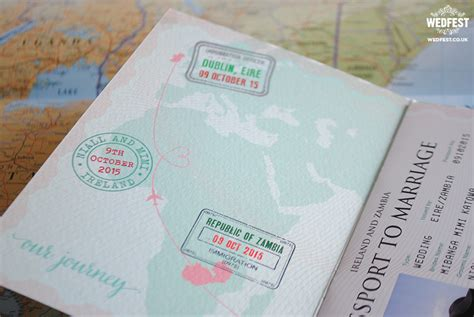 passport wedding invitations wedfest