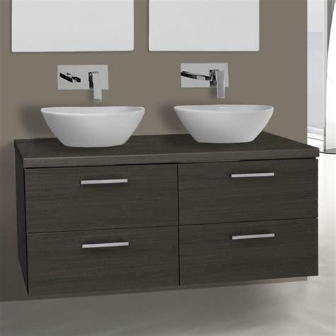 45 Inch Bathroom Vanity 45 Inch Grey Oak Vessel Sink Bathroom Vanity Wall Mounted Iotti An57 Thebathoutlet
