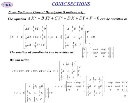 conic sections equations conic sections