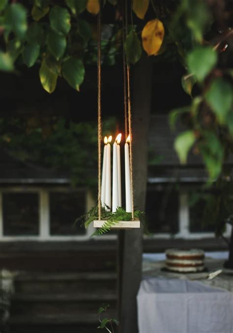 Outdoor Candle Chandeliers Diy Outdoor Candle Chandelier Tutorial 1001 Gardens