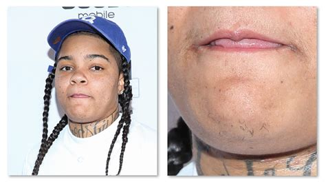 young ma lets her hair down to flex bossip young ma beard