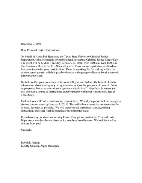 Business Letter Format Scholastic sle career day invitation letter school yolanda