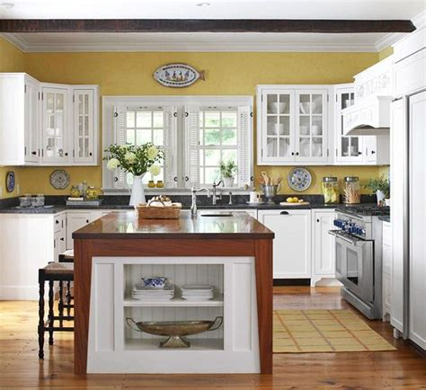 Kitchen Color Schemes With White Cabinets by Kitchen Cabinets In White Mustard Kitchens And Fabrics