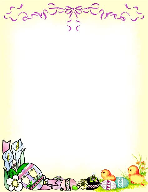 printable easter stationery easter stationery theme free digital stationery