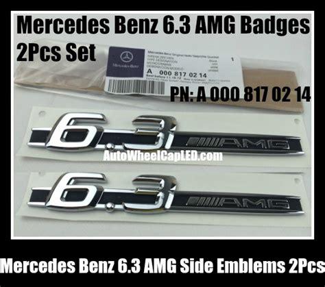Letters 2pcs Dress Size Ml mercedes 6 3 amg 2pcs side emblems stickers badges a