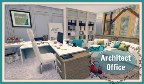 sims 4 set cc sims 4 architect office room dinha