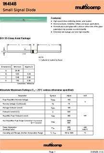 datasheet specifications diode type small