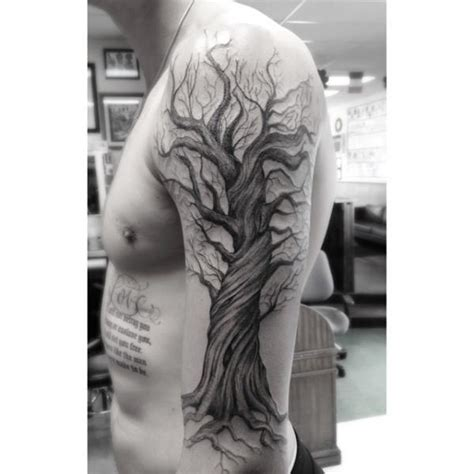 dr woo tattoo cost shoulder arm tree by dr woo