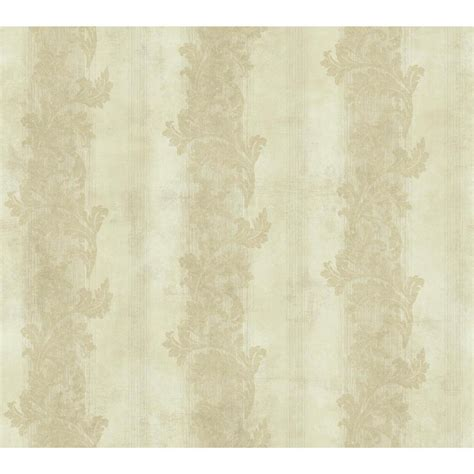 gold wallpaper home depot york wallcoverings gold leaf acanthus stripe wallpaper