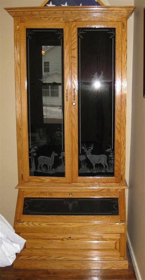 custom  oak gun cabinet  flads furniture