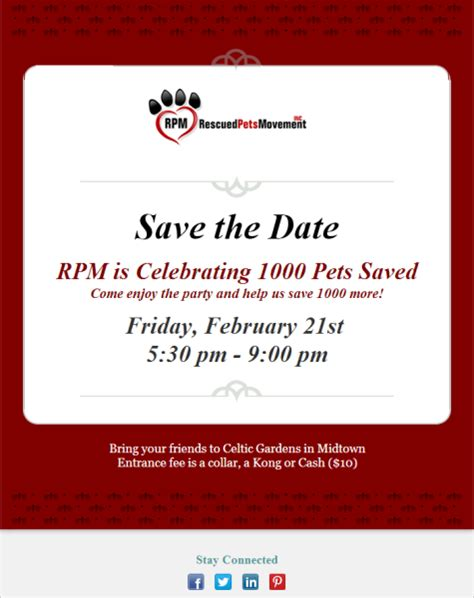 excellent rescued pets movement event announcement