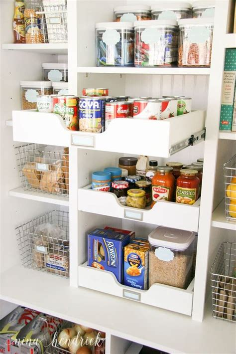wire baskets pantry and drawers on