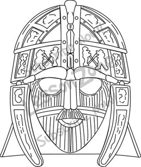 helmet design worksheet free coloring pages of anglo saxon mask