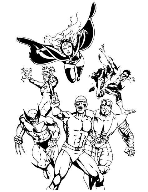 printable x men coloring pages coloring me