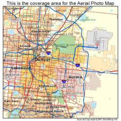 aerial photography map of denver co colorado
