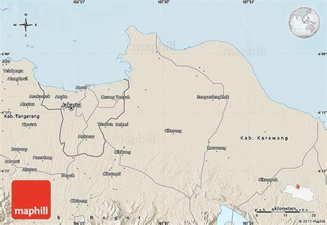 Diskon Ongkir Area Kab Bekasi shaded relief map of kab bekasi