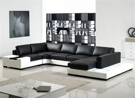 black and white sectional couch th 108 modern black white leather sectional sofa ct35bkwh