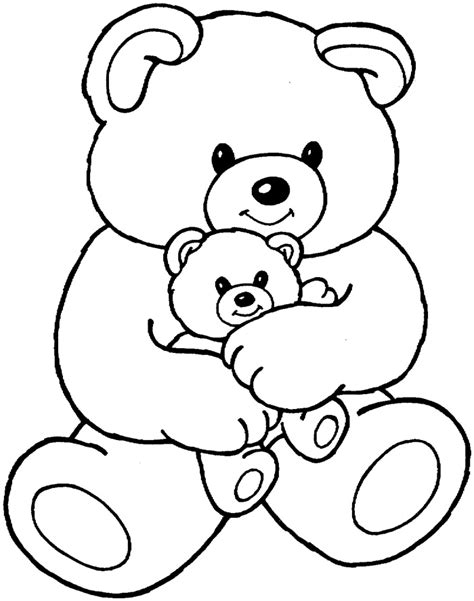 cute bear coloring pages teddy bear coloring pages for kids