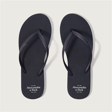 abercrombie and fitch slippers abercrombie fitch rubber flip flops in blue lyst