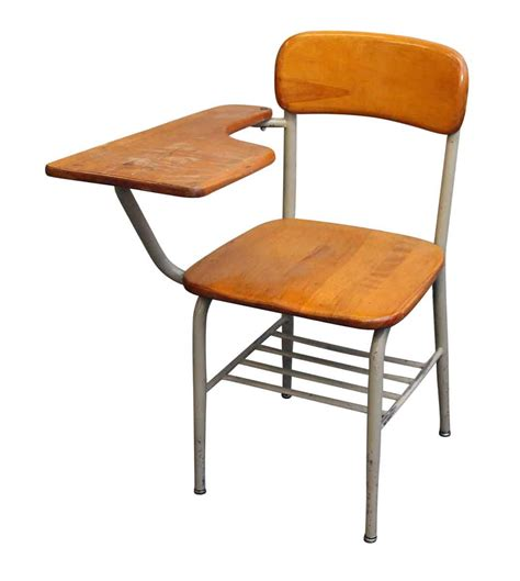 School Desk With Chair Attached salvaged school chairs with attached desk olde things