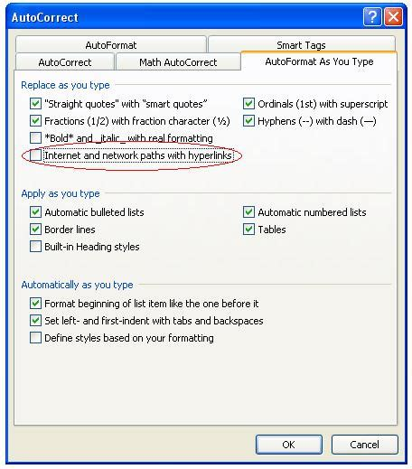 layout hyperlink word how to disable automatic hyperlinks in microsoft word