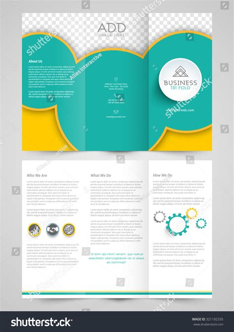 creative professional trifold brochure template flyer