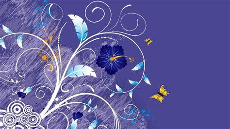design flower game beautiful butterfly wallpaper design stock vector 3d