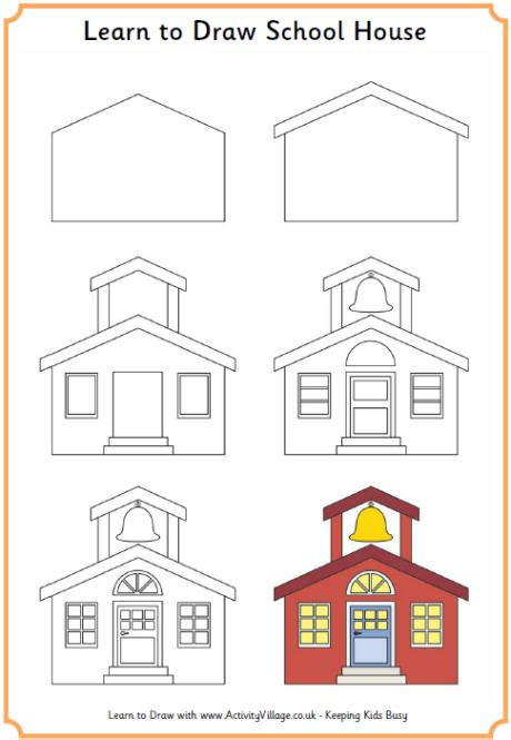 house printable for preschool learn to draw a school house printables back to