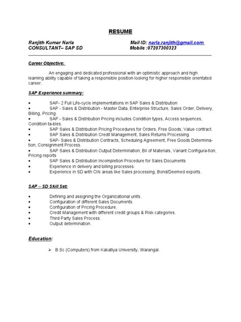 sap crm functional consultant resume sle common strengths and weaknesses resume work history