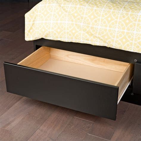 Black King Platform Bed Prepac Sonoma Black King Platform Storage Bed W 6