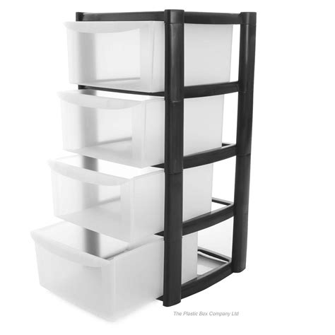 Plastic Storage Box Drawers buy 4 drawer plastic storage tower unit 4 tier plastic