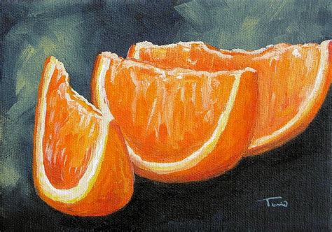 orange painting orange slices painting by torrie smiley