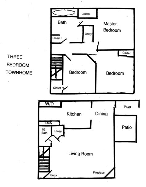 townhome floor plan designs 3 br townhomes for rent in columbus ohio 3 bedroom