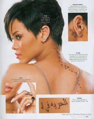 rihanna tattoos designs rihanna tattoos