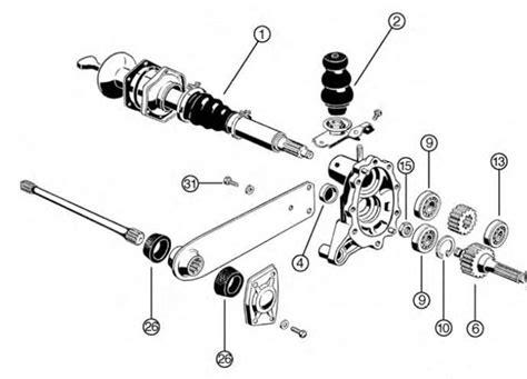 vw swing axle transmission vw type 1 2 3 bug bus ghia thing german split swing axle