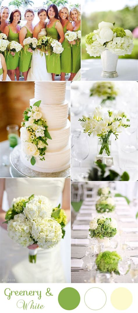 10 greenery wedding colors inspired by pantone color