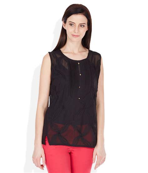 madame top buy madame black solids neck top at best