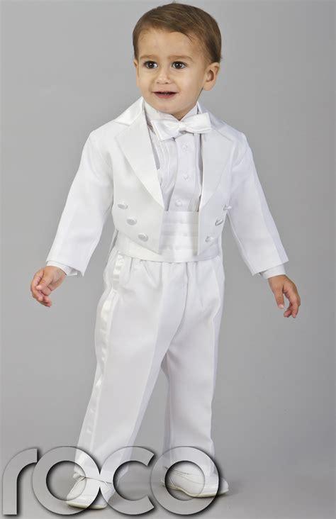 C Kid Toxedo boys white tuxedo cruise dinner wedding pageboy suit age 0 24 months white tuxedo ring
