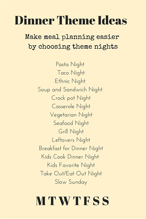 theme night names simplified meal planning and free template h 228 lsa nutrition