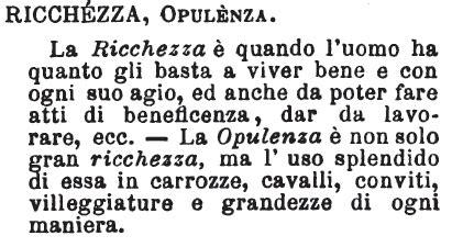 opulenza significato ricchezza dizionario significato e curiosit 224