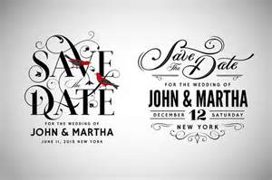 Save The Date Design Template by 10 Sle Save The Dates Psd Vector Eps