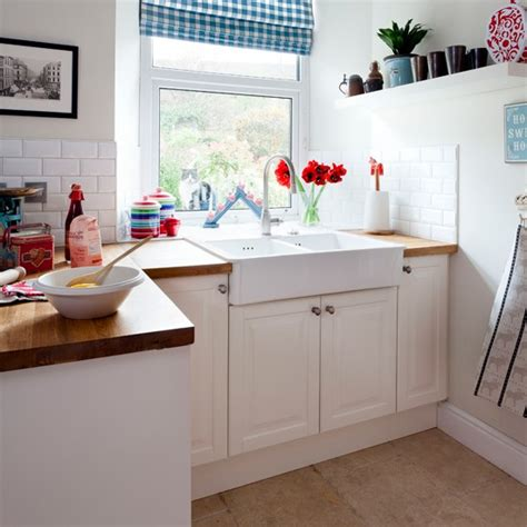 white country style kitchen with butler sink housetohome