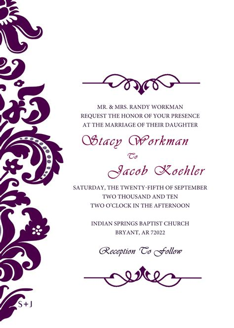 free e wedding invitation cards templates infoinvitation co